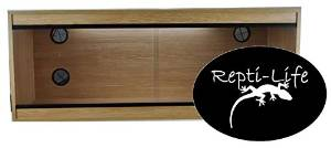 48x24x24 Inch Vivarium Flatpacked In Oak, 4ft Viv By Repti-life