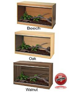 WOODEN VIVARIUM REPTILE HOME - SMALL, MEDIUM, LARGE - BEECH,...