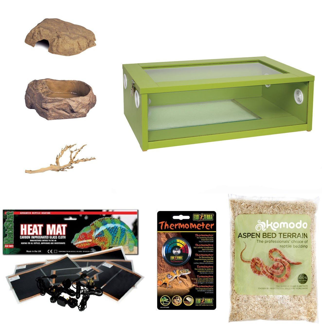 Corn Snake Starter Kit - Medium Vivarium Green (24