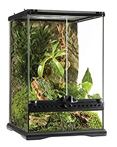 Exo Terra Glass Natural Terrarium, Mini/Tall, 30 x 30 x 45 cm