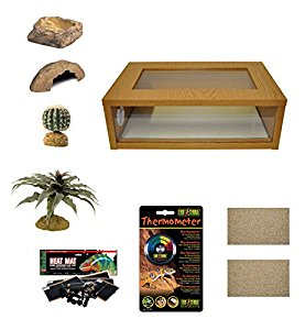 Medium Leopard Gecko Starter Kit - Monkfield Vivarium Oak (24...
