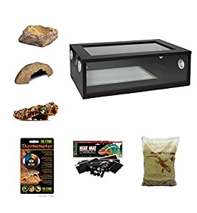 Medium Royal Python/Ball Python Starter Kit Monkfield Vivarium Black (24...
