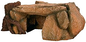 Trixie 8847 Rock Plateau with Tree Trunk Aquarium Decoration 25...