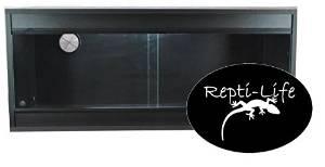36x15x15 Inch Vivarium Flatpacked In Black, 3ft Viv By Repti-life