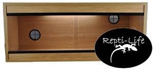 36x15x15 Inch Vivarium Flatpacked In Oak, 3ft Viv By Repti-life