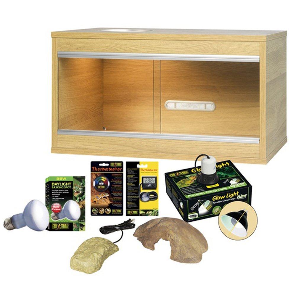 Vivexotic Viva Leopard Gecko Starter Kit Oak - Assembled