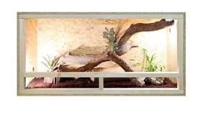 Wooden Terrarium Vivarium with Glass Front and Ventilation - 80cm...