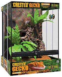 Exo Terra Crested Gecko Kit Tall, Large, 45 x 45 x 60...