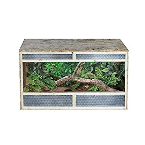 Pawhut Reptile Pet Vivarium Home House Terrarium Habitat Leopard Geckos Lizard Wooden Environmentally friendly OSB - 80cm x 50cm x50cm
