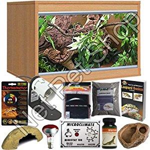 Leopard Gecko Starter Kit With LX24 Oak