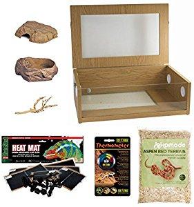 The Pet Express Corn Snake Starter Kit - Medium Vivarium (24